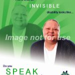 """This is what an invisible disability looks like"" Poster"