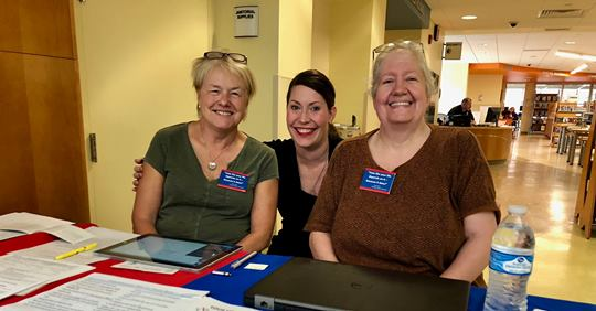 Rene is pictured at an event on National Voter Registration Day (September 25th) with Secretary of State Allison Lundergan Grimes (center) and Peggy Thompson of New Perceptions, Inc. (left).