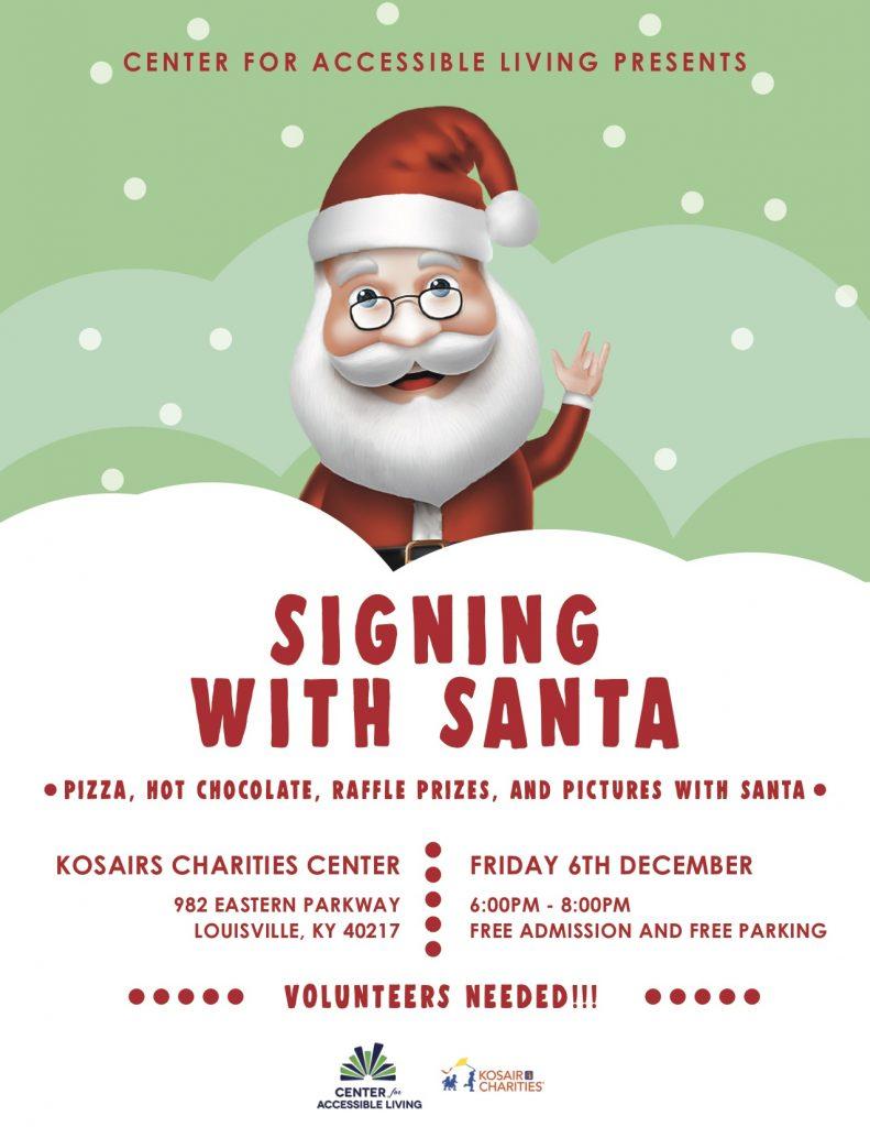 Signing with Santa Poster